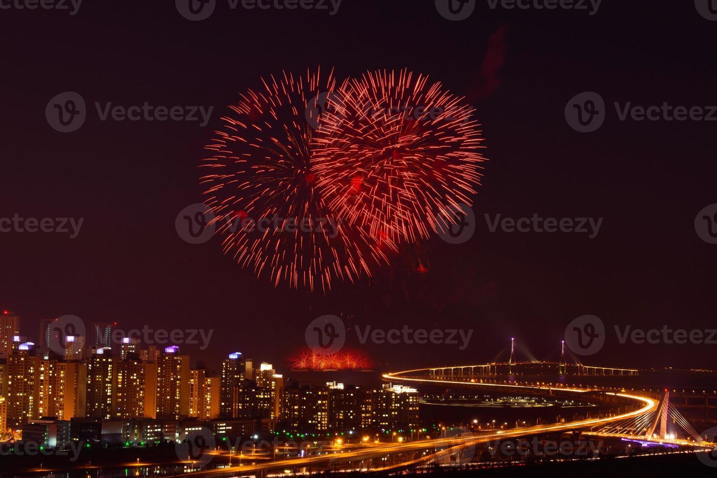 Firework display photo