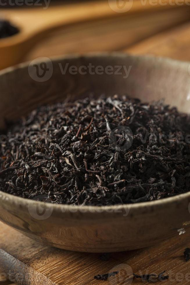 Dry Black Loose Leaf Tea photo