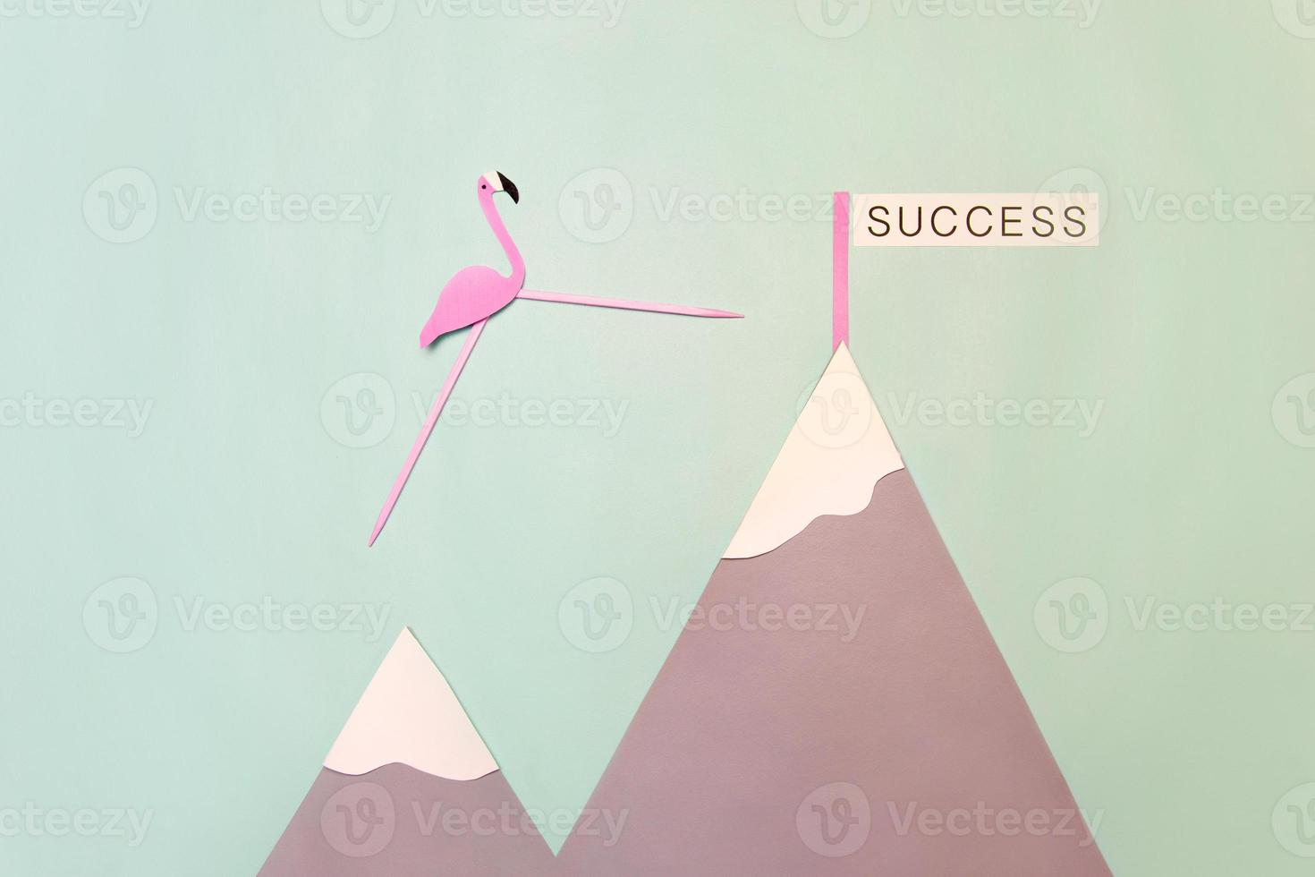 rosa flamante vers le succès foto
