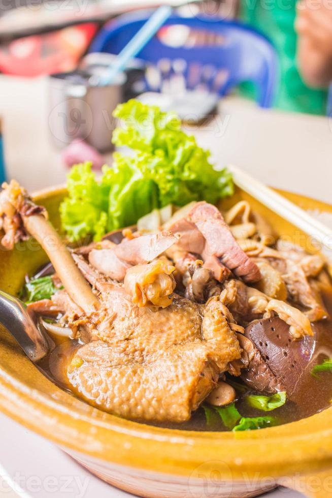 Duck noodle soup of Thailand. photo