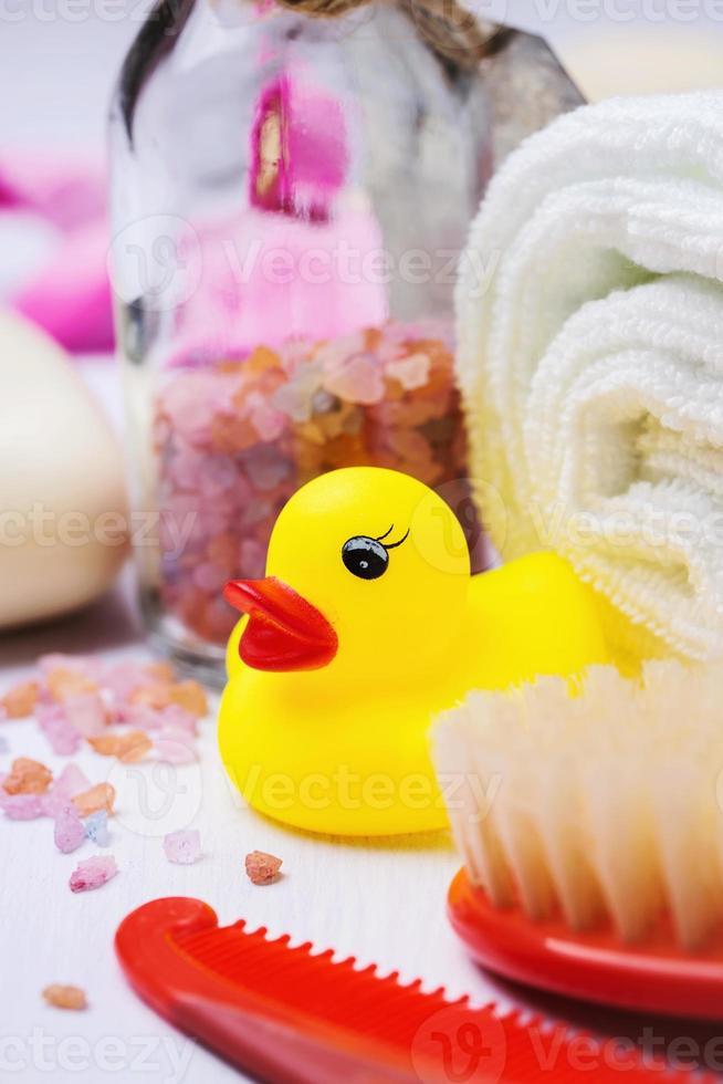accesorios para el baño del niño foto