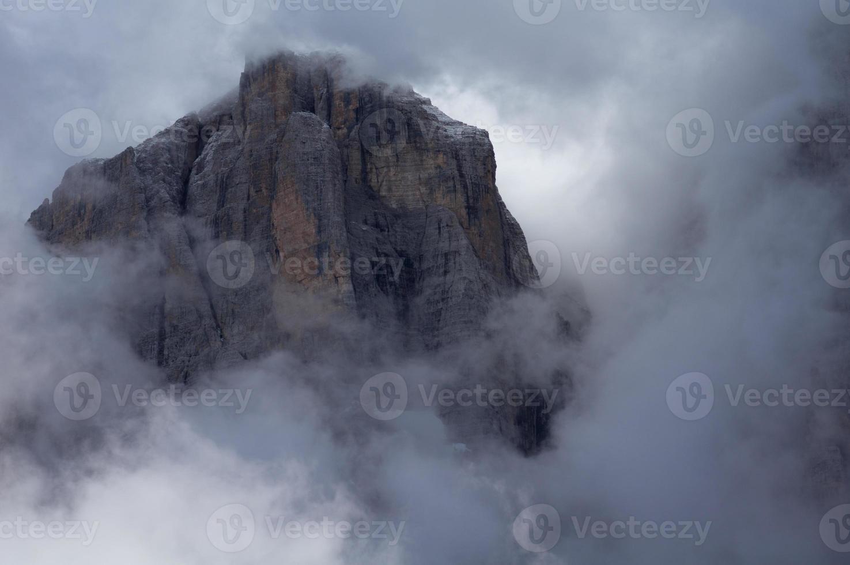 Peak in the clouds photo