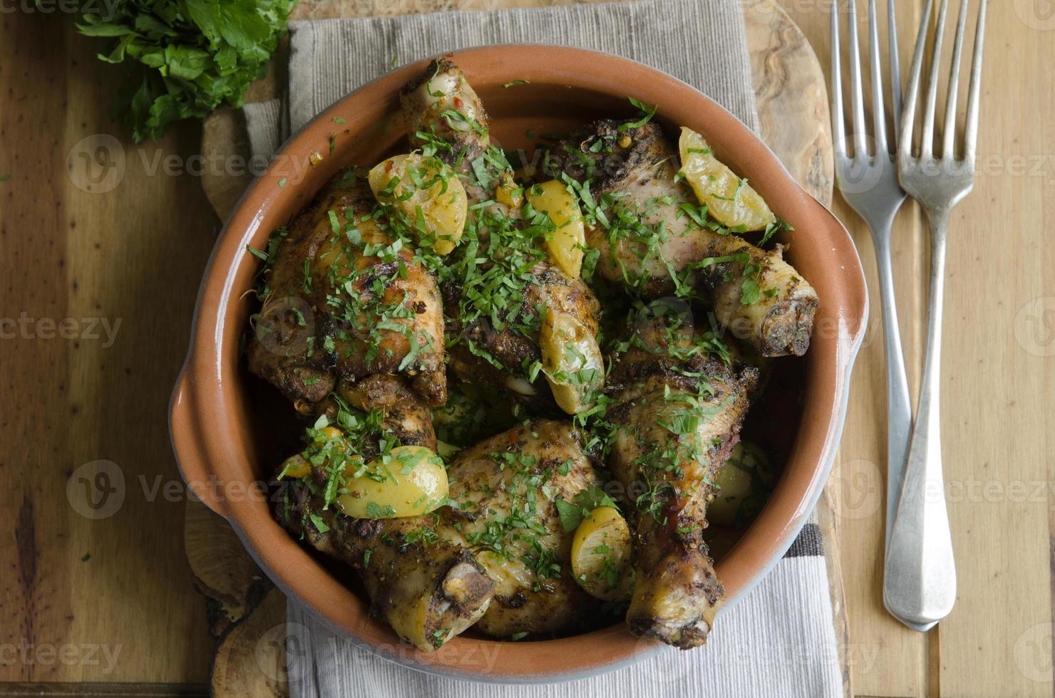 Moroccan chicken stew photo