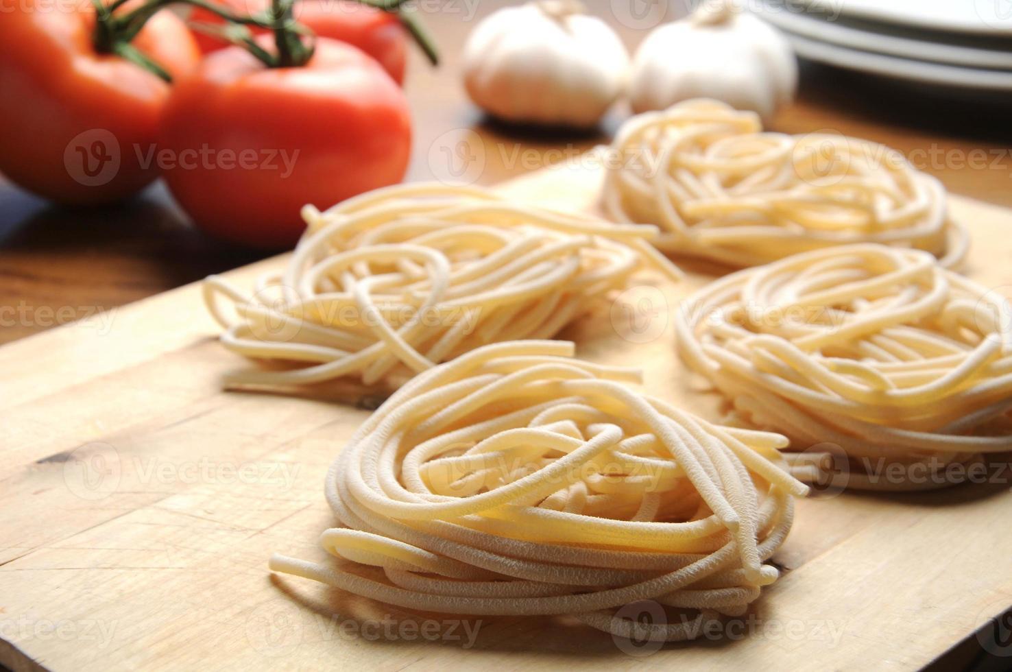 pici toscano pasta toscana típica foto