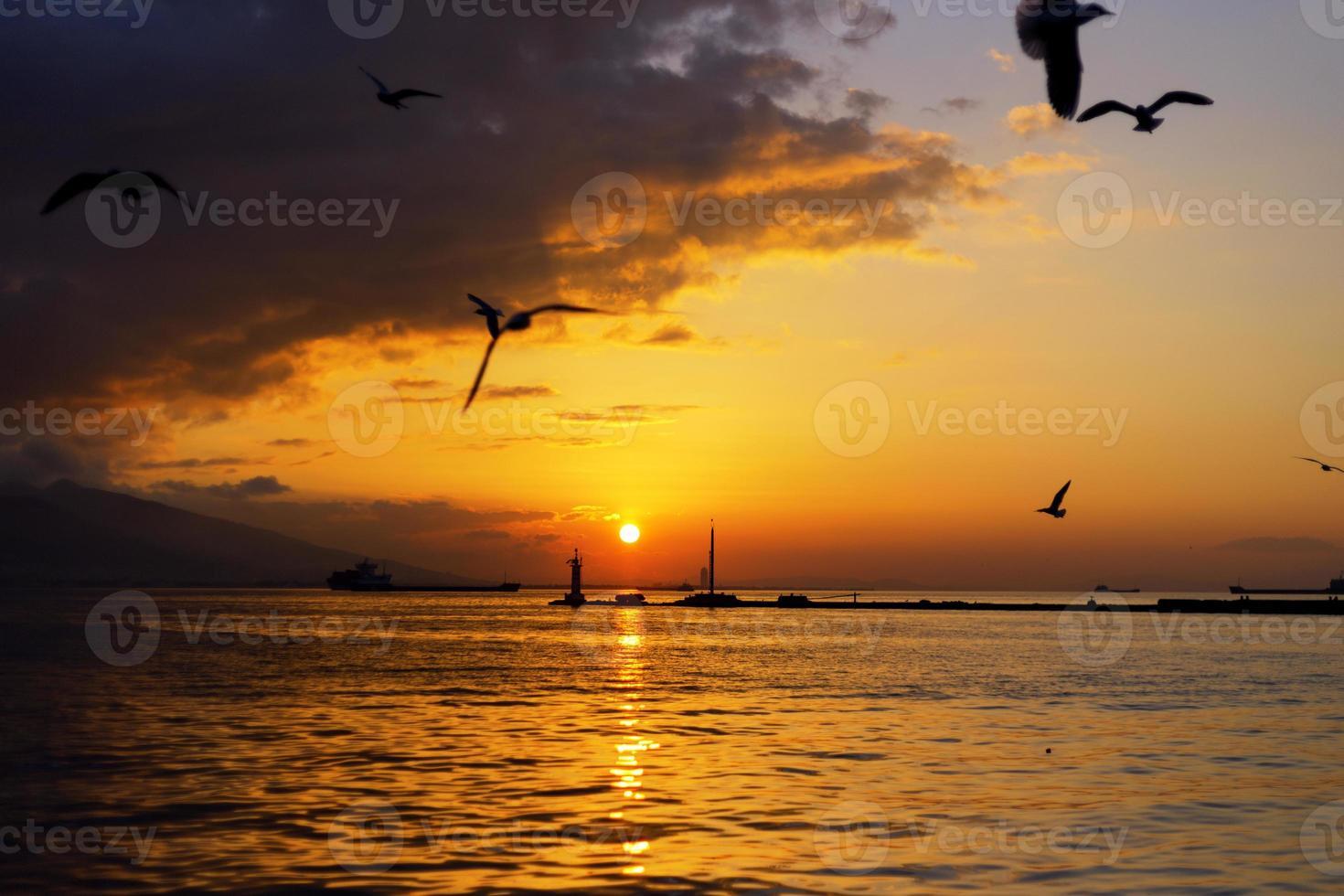 sunset in Izmir photo