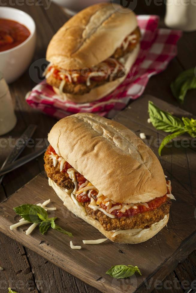 Hearty Homemade Chicken Parmesan Sandwich photo