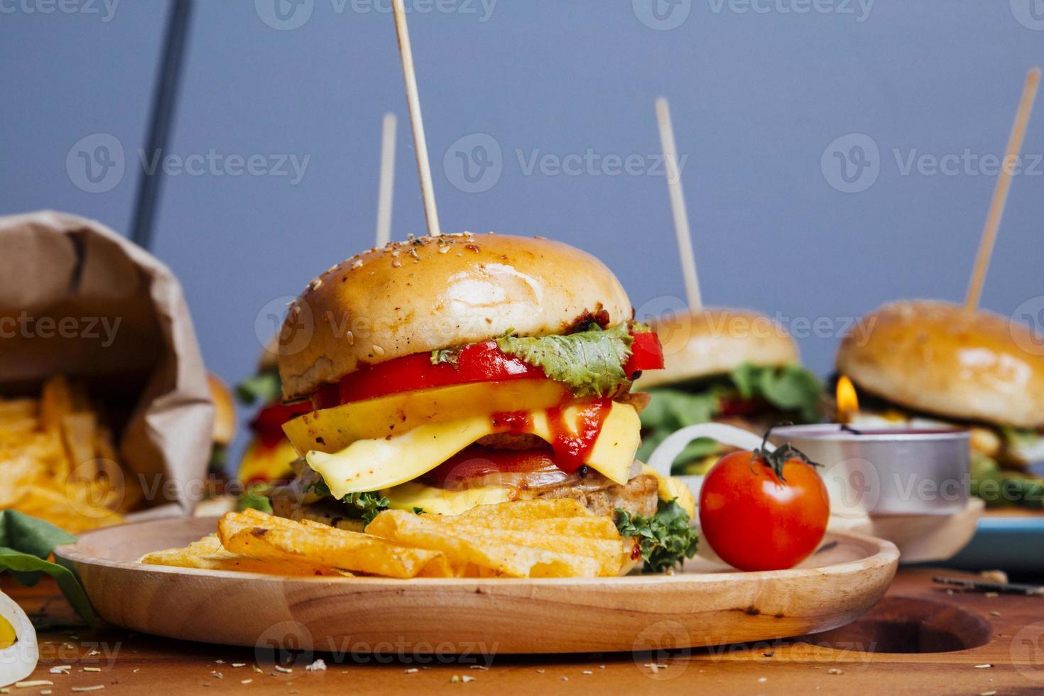 hamburguesa de cerca foto