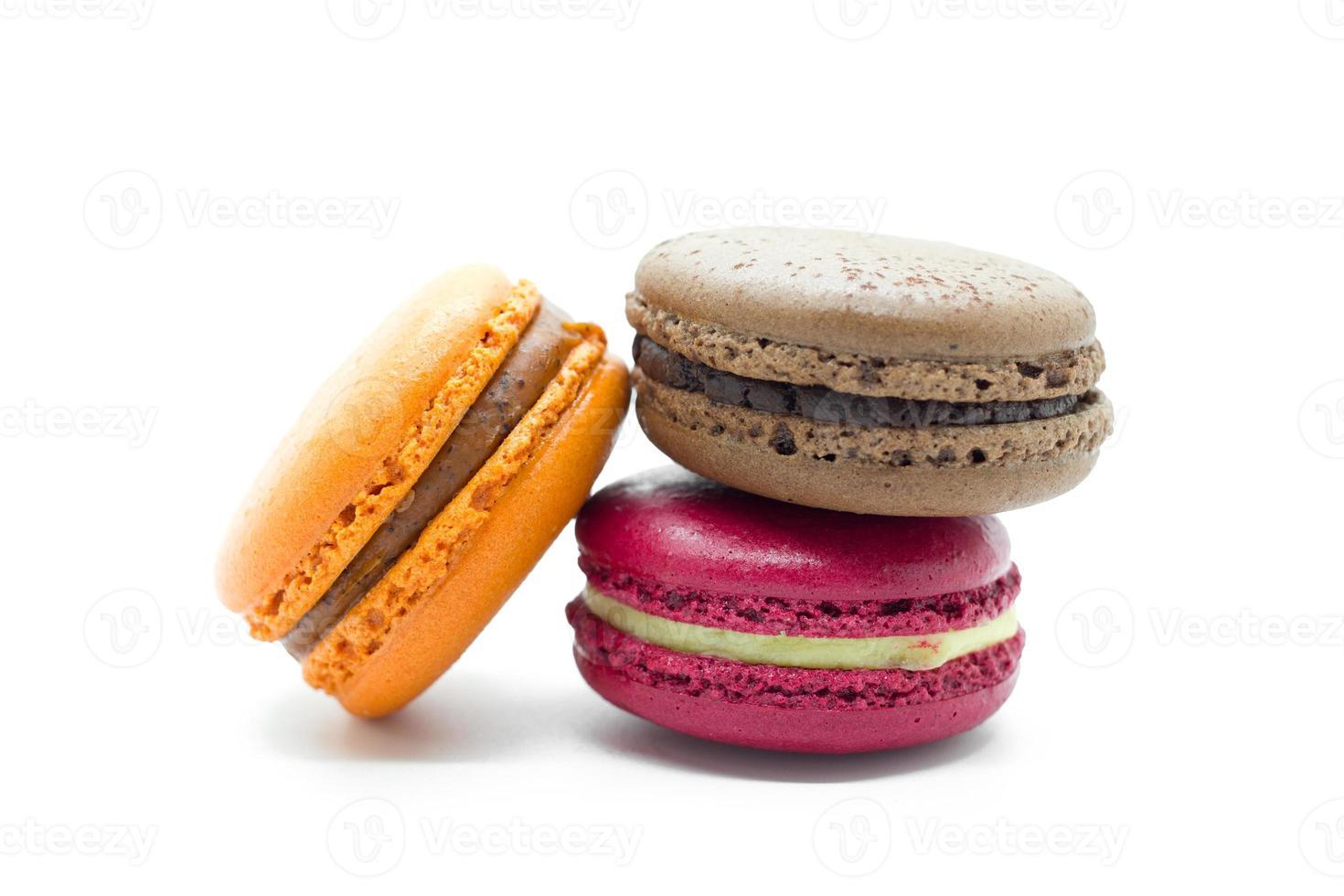 Macarons franceses de colores. foto