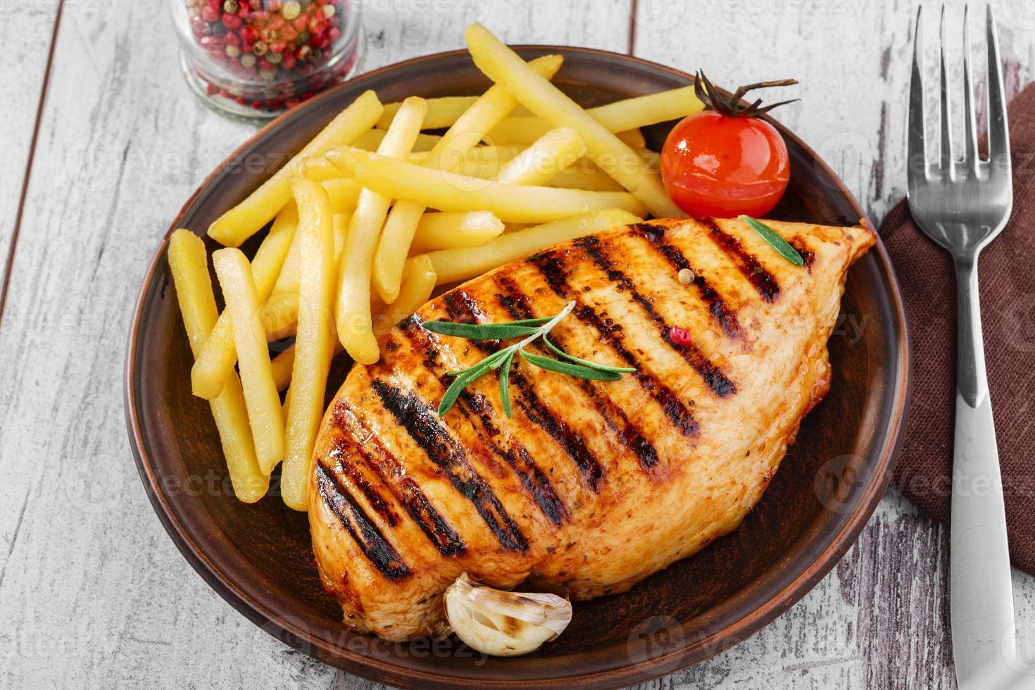 grilled chicken fillet photo