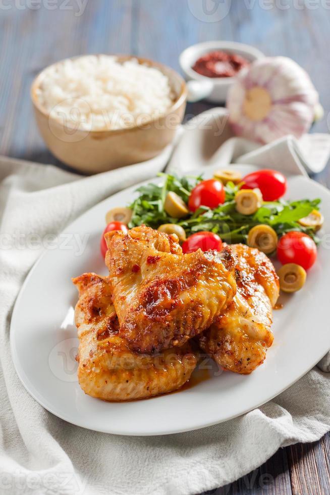 alitas de pollo picantes búfalo foto