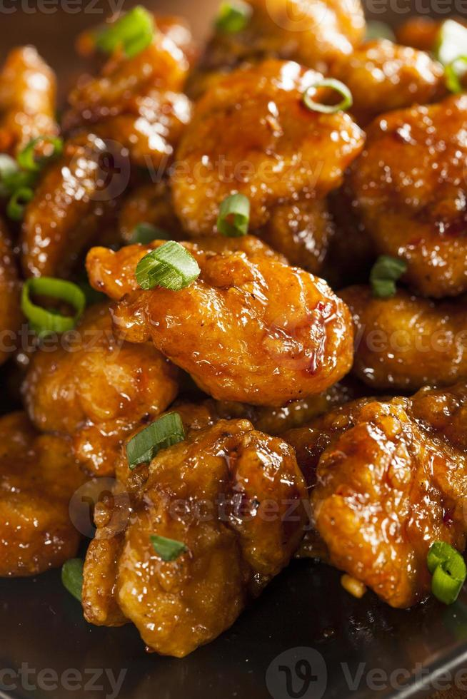 Asian Oranage Chicken with Green Onions photo