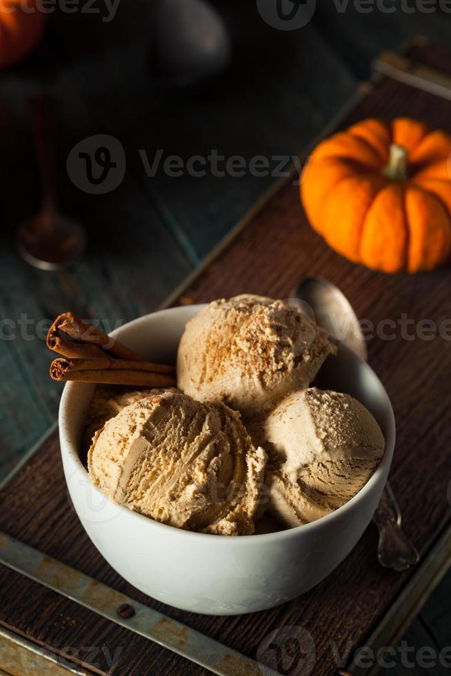 helado casero de pastel de calabaza foto
