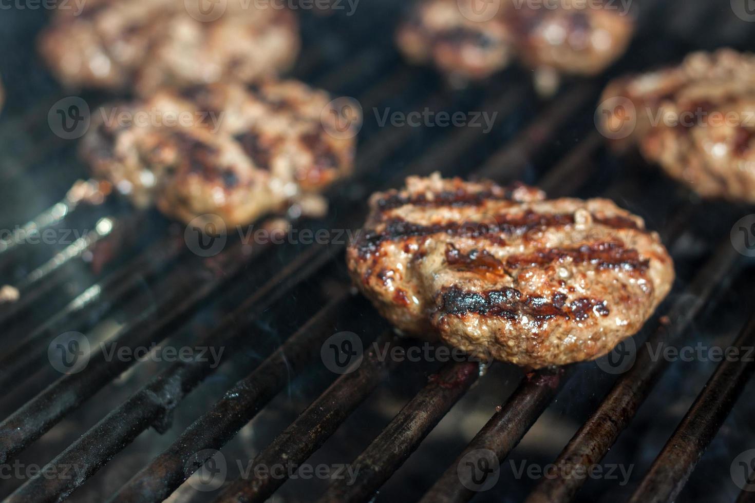 Grilled Hamburger For Dinner photo