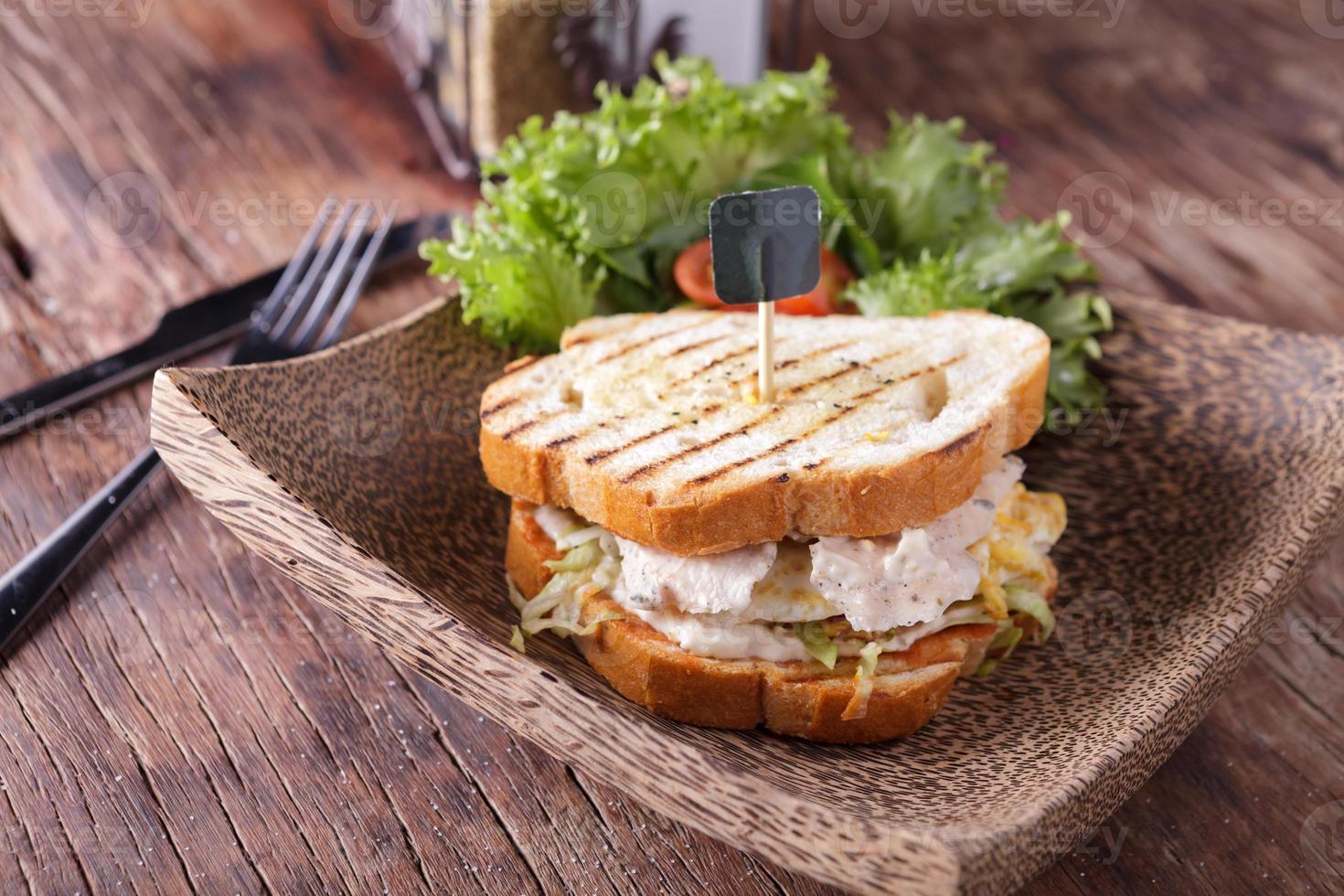 sándwich de pollo foto