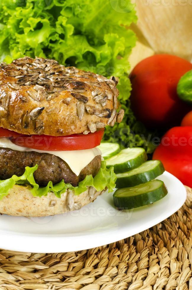 hamburguesa casera para dieta crono foto