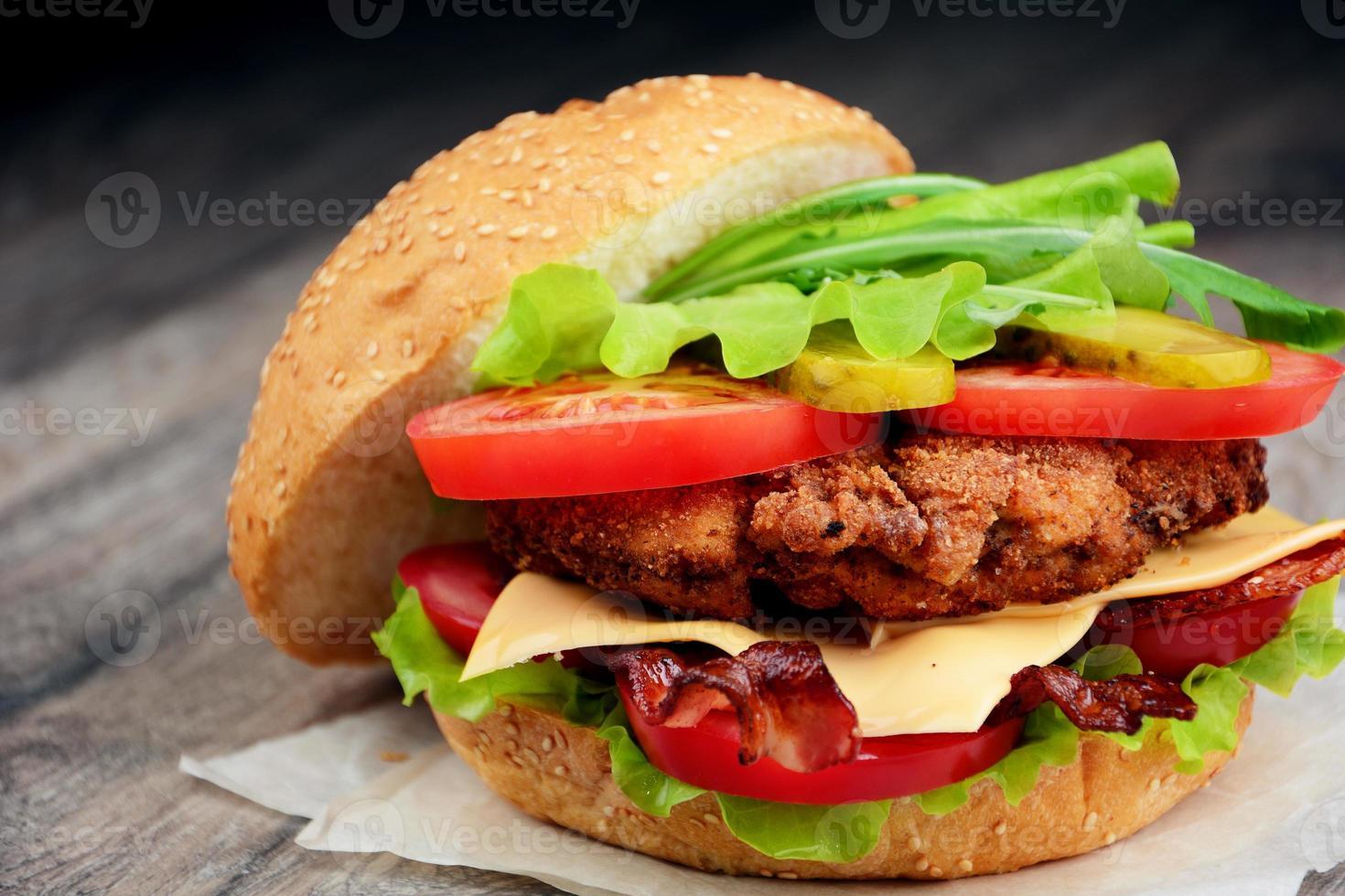 sabroso sándwich casero foto