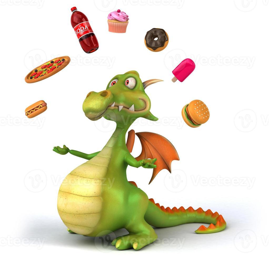 dragón divertido foto