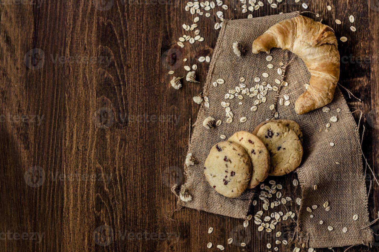 croissant y galletas foto