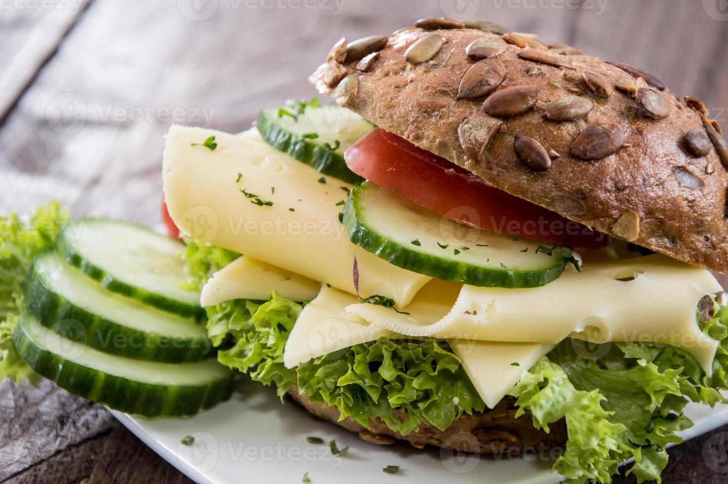 sándwich de queso recién hecho foto
