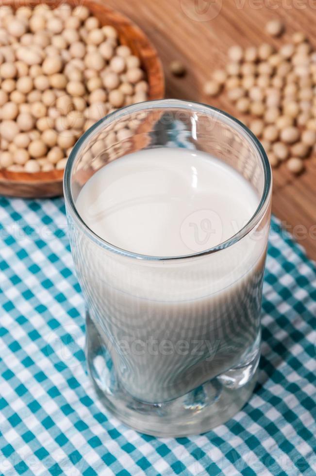 Glass of soy milk photo