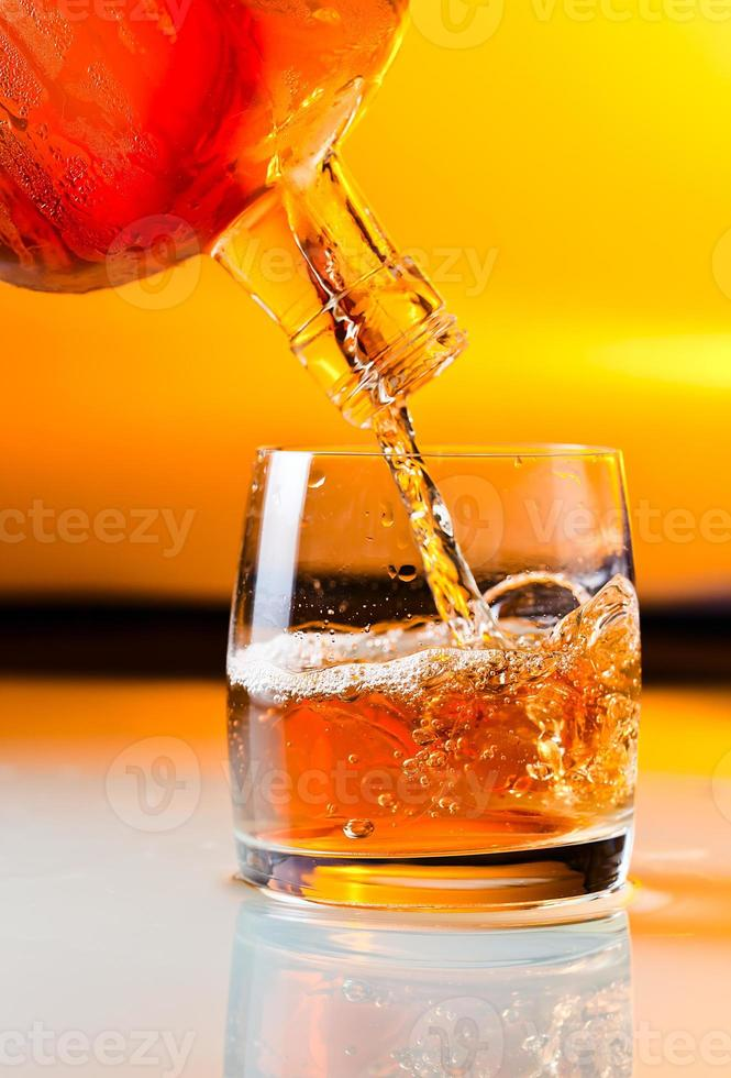 glass with whiskey photo