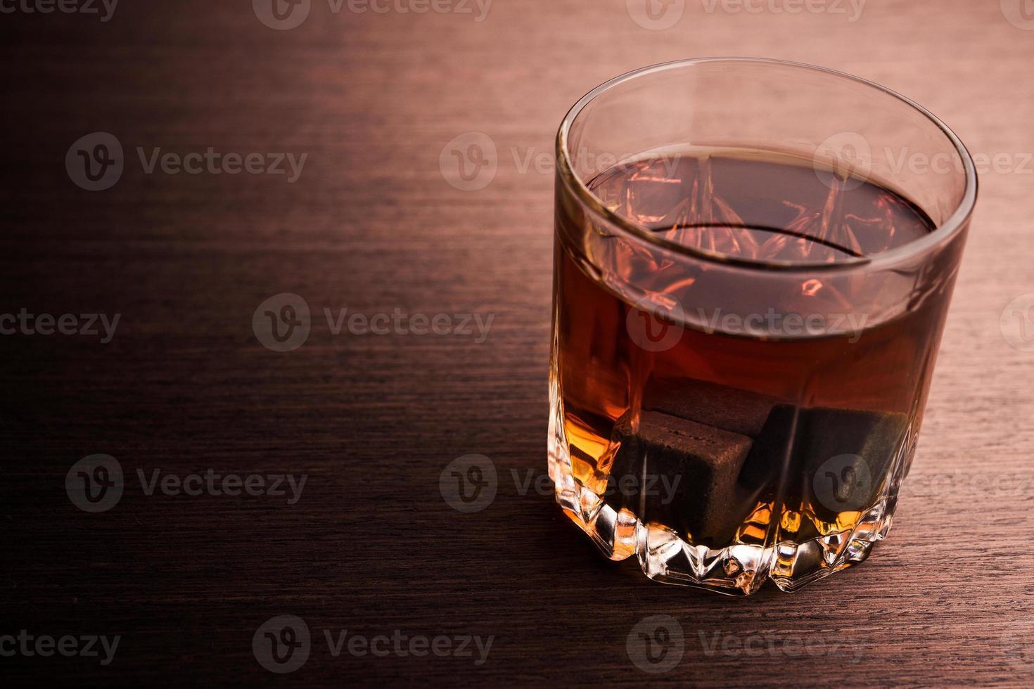 Glass of brandy photo