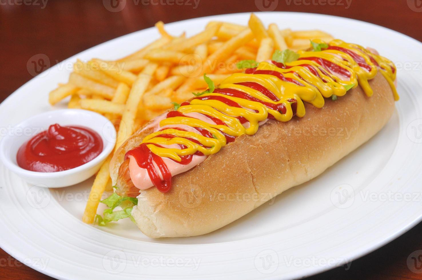 Hot dogs and French fries photo