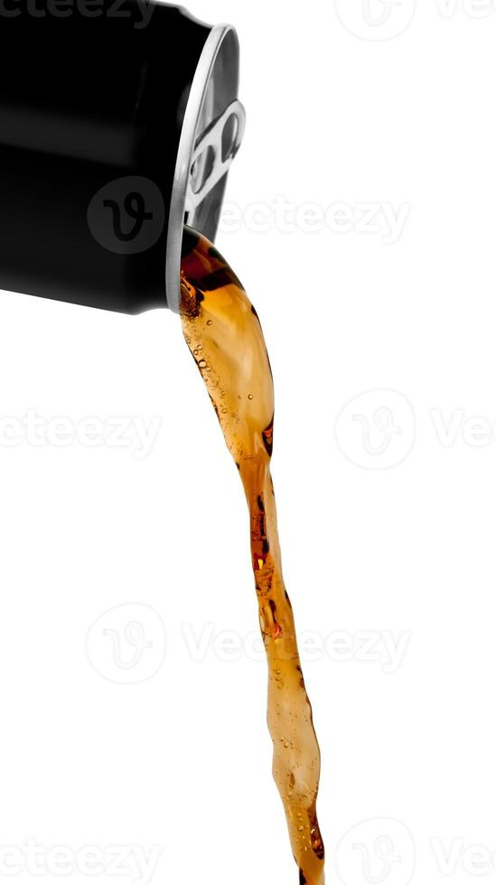 Flowing cola drink photo