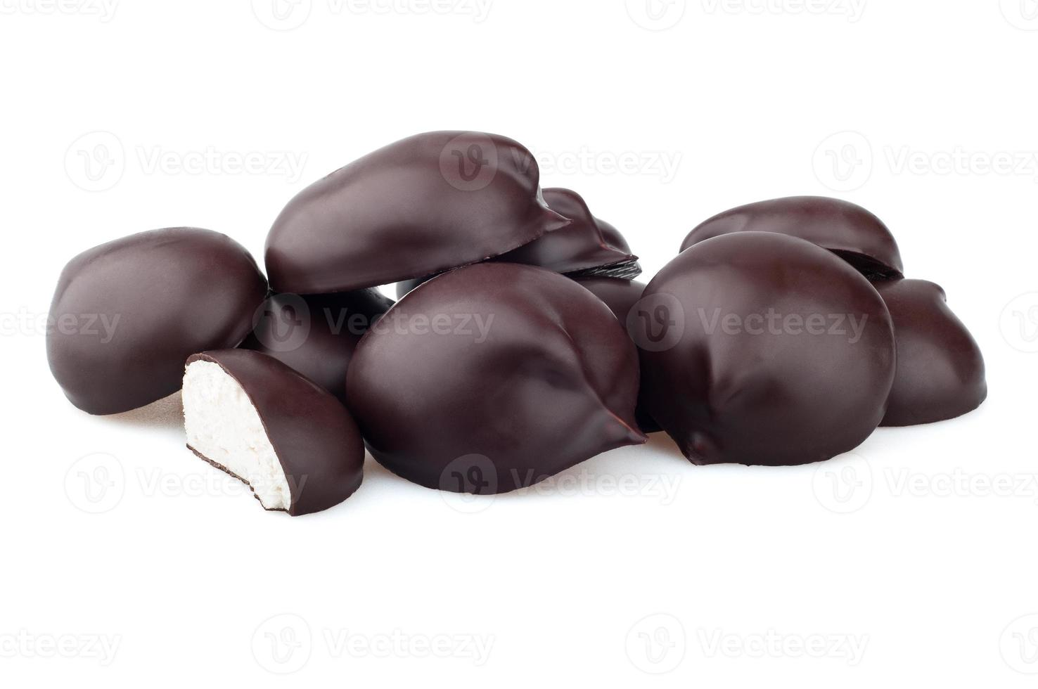 Chocolate candy on a white background photo