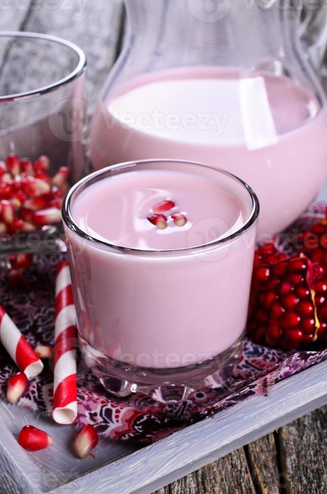 cóctel rosa foto