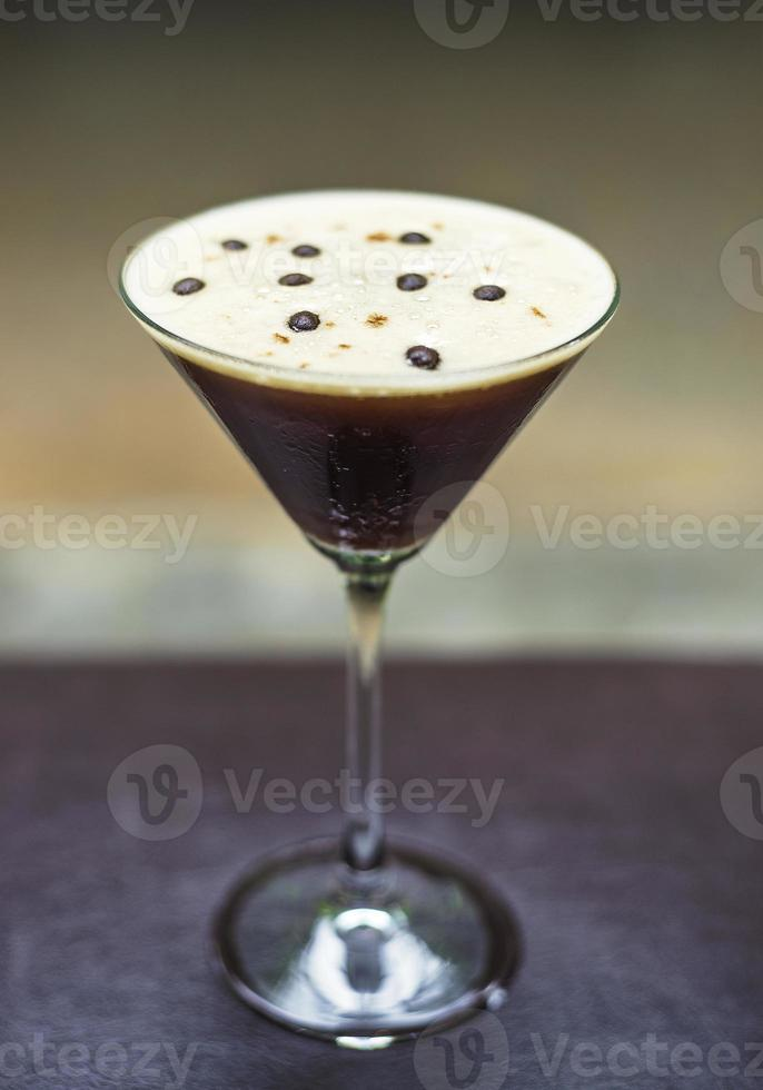 espresso martini alcoholic cocktail drink photo