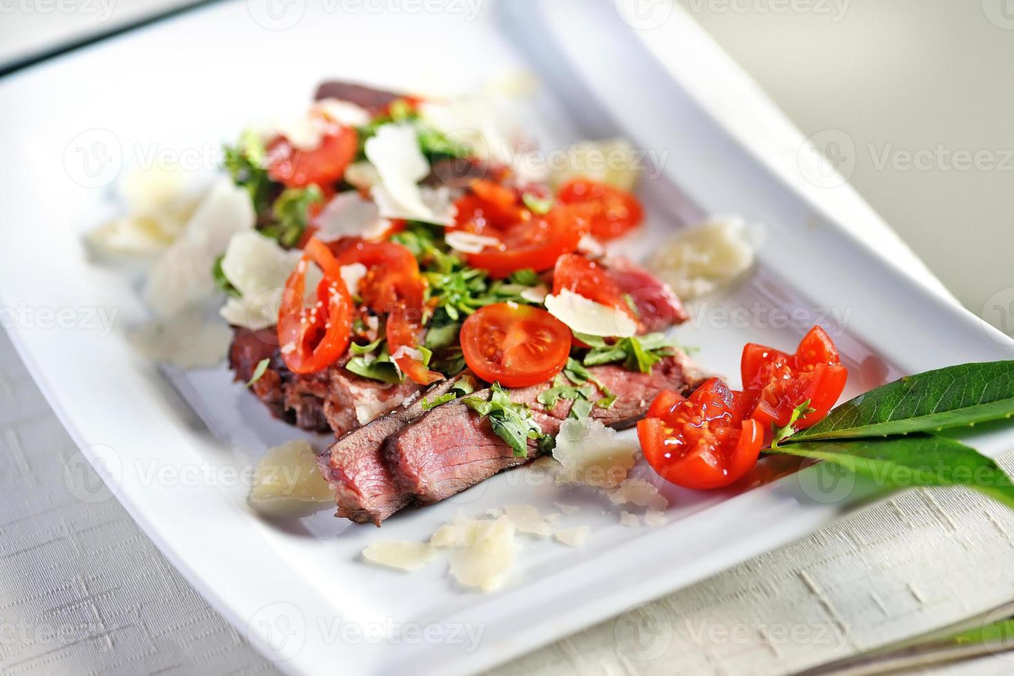 Steak grilled sliced photo