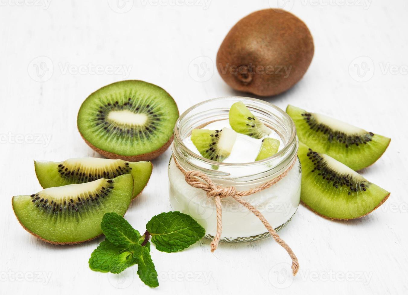 yogur de kiwi foto