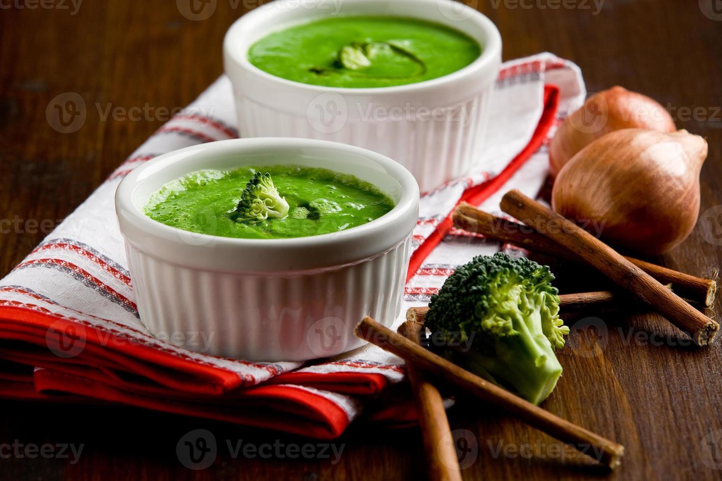 sopa de brocoli foto
