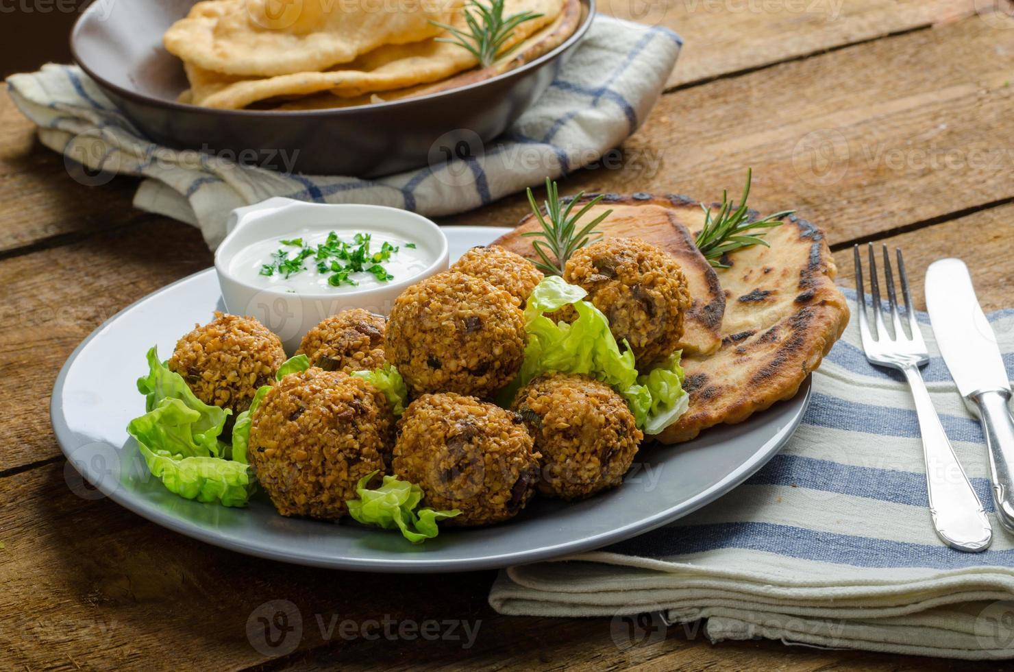 salud crujiente de falafel foto