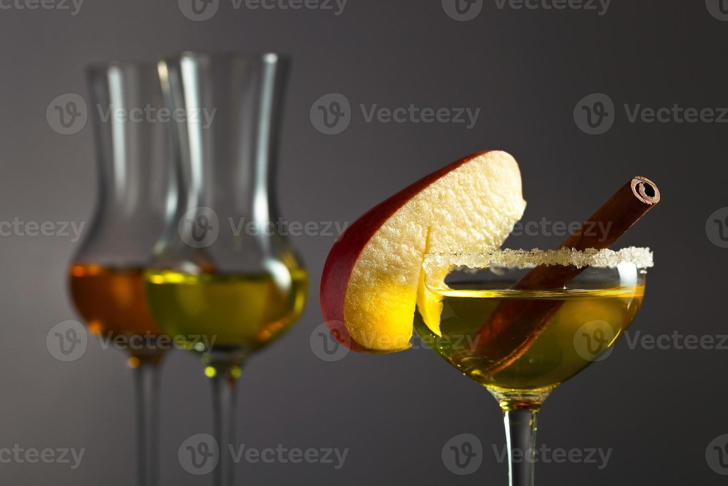 apple liquor with cinnamon photo