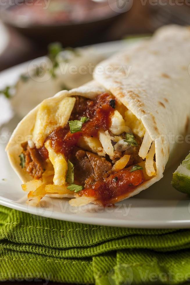 Hearty Chorizo Breakfast Burrito photo
