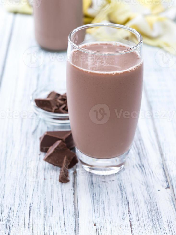 bebida de leche (chocolate) foto
