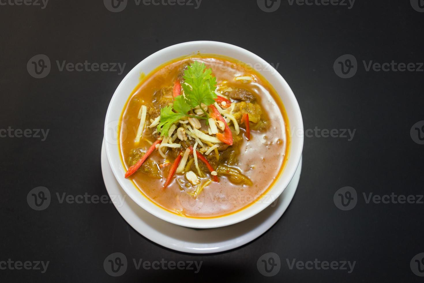 Kaeng Hung Ley Moo or Pork Curry Northern Thai food photo