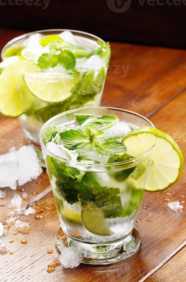 Mojito with lime photo