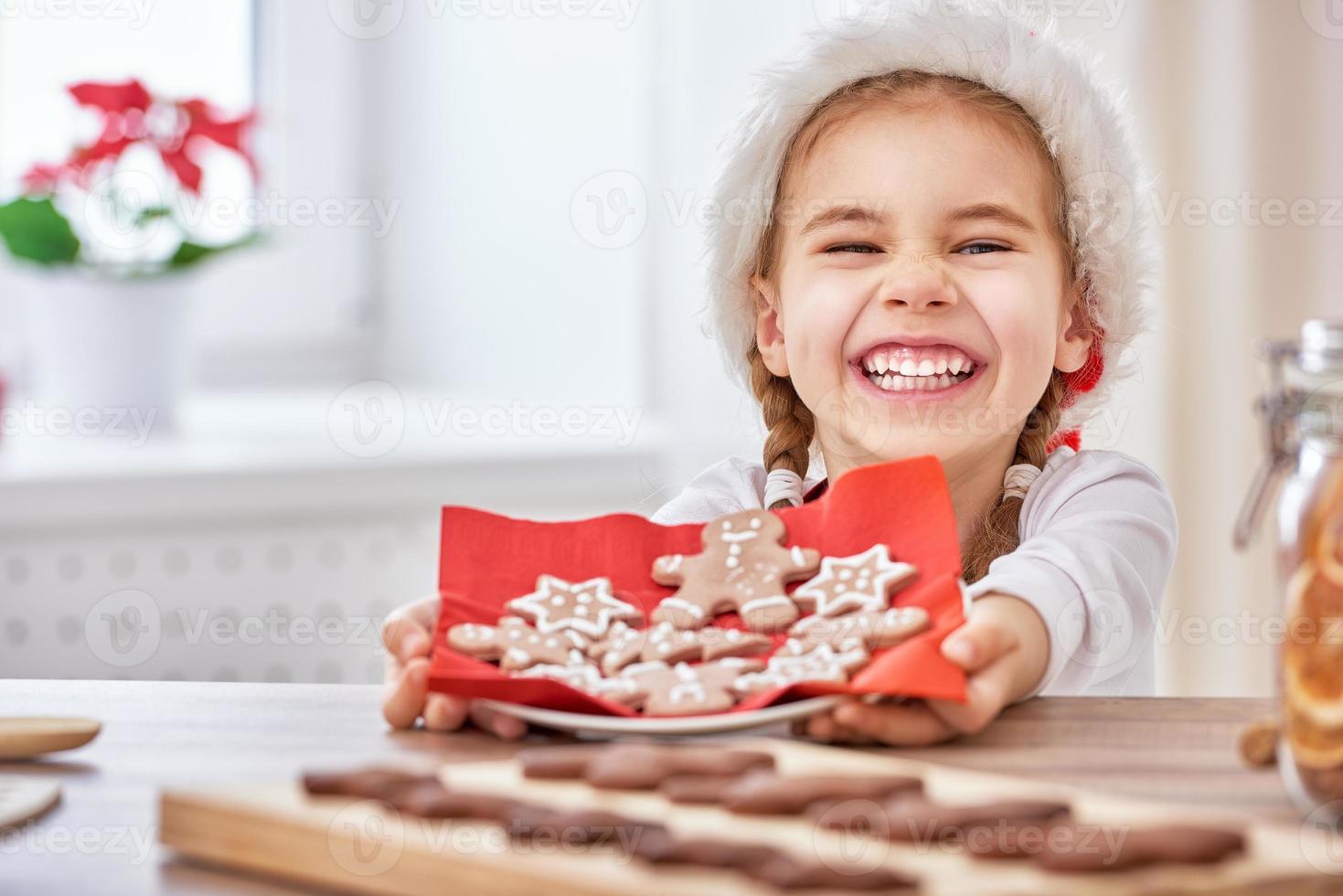 cocinar galletas de navidad foto