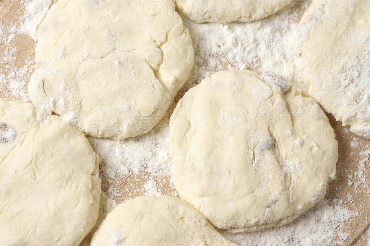 cocina: masa de pastel foto