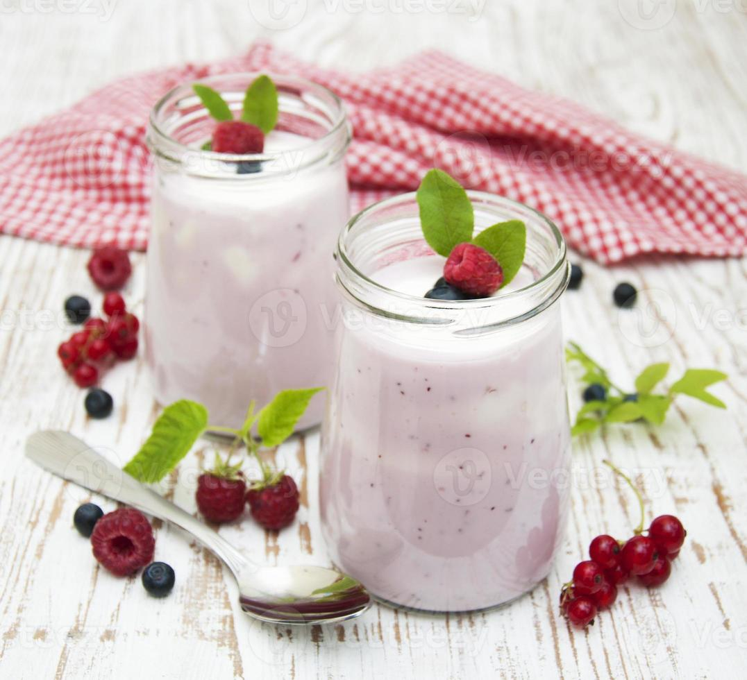 yogur de frutas foto