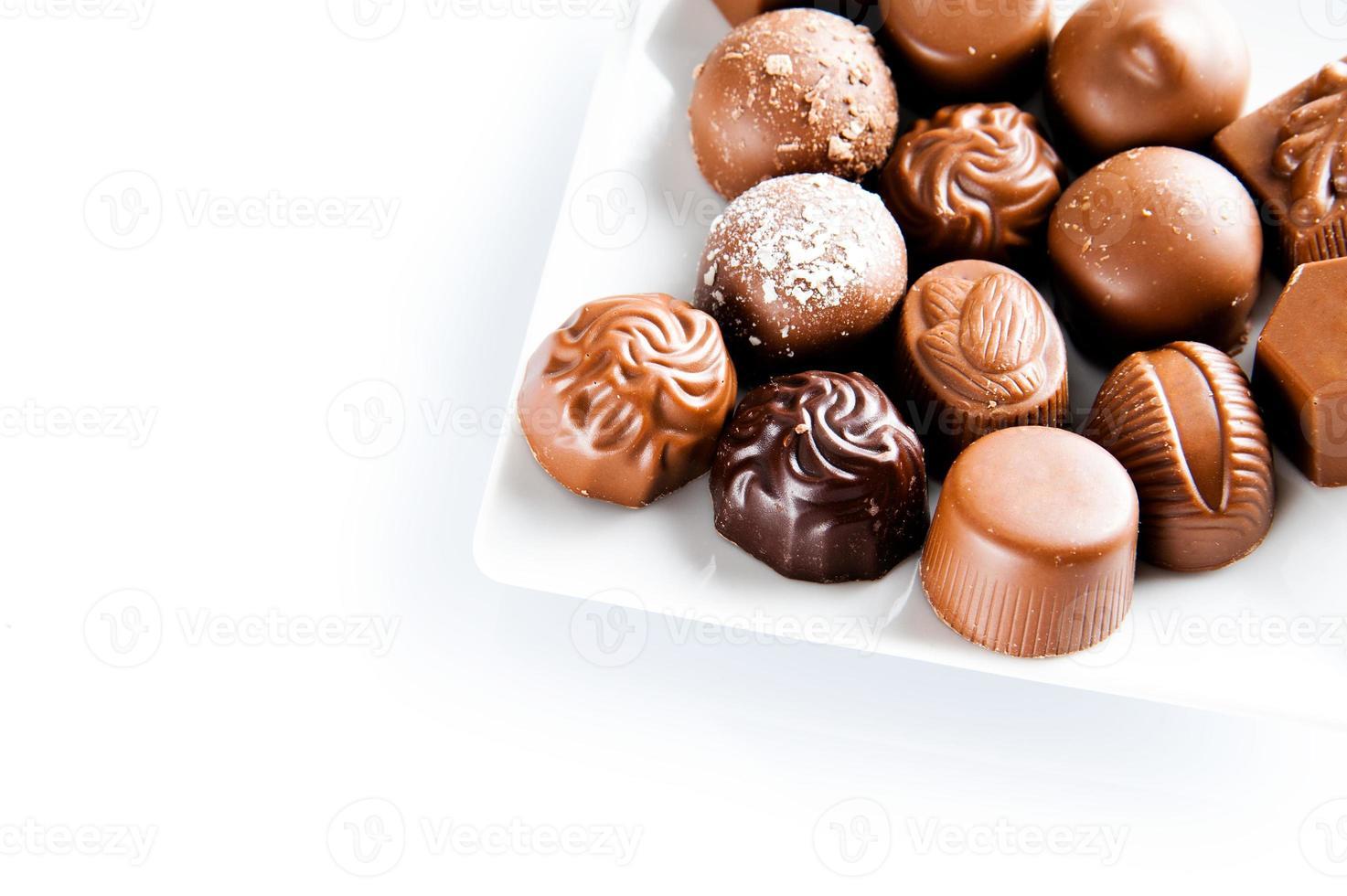 Luxury sweet chocolate pralines photo