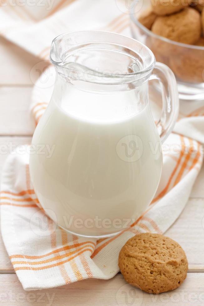 leche y pan de jengibre foto