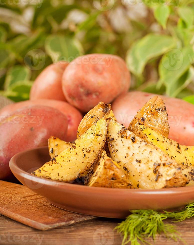 Potatoes baked photo
