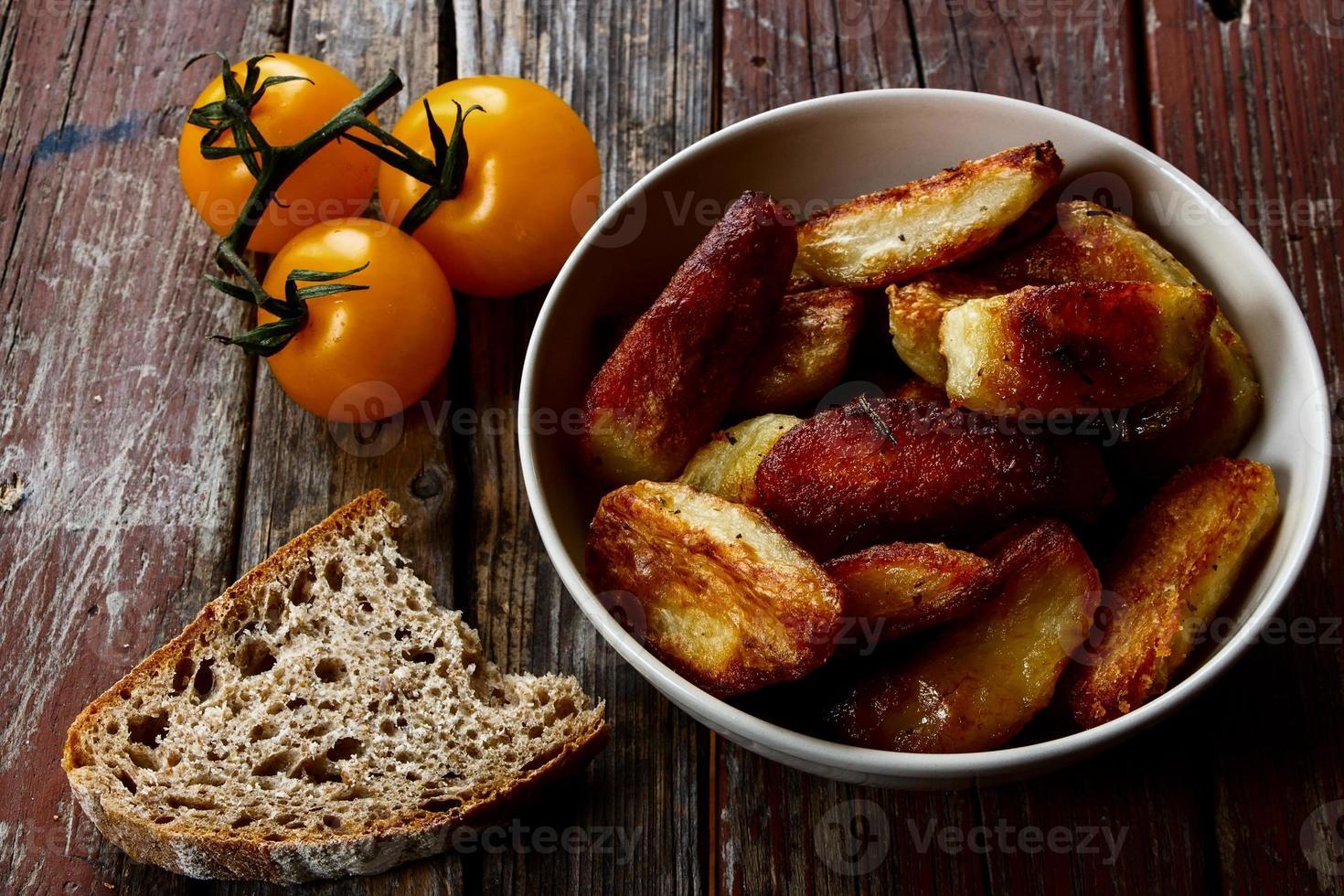 patatas al horno foto