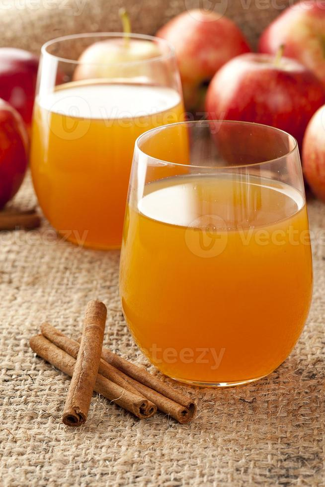 sidra de manzana orgánica fresca foto