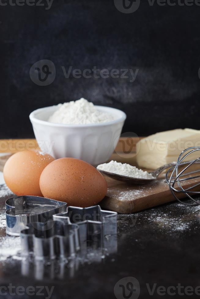 ingredientes para hornear pasteles foto