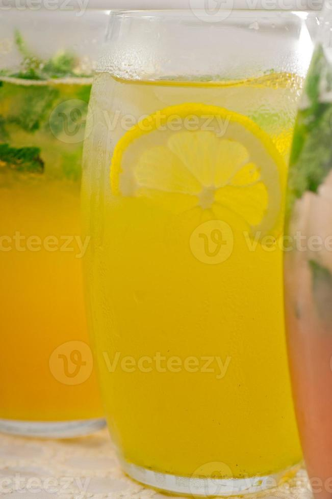 selection of fruits long drinks photo